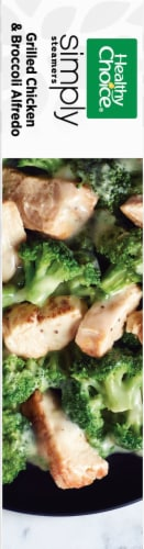 Healthy Choice Simply Steamers Grilled Chicken & Broccoli Alfredo Frozen Meal Perspective: left