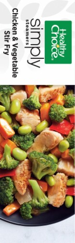 Healthy Choice Cafe Steamers Simply Chicken & Vegetable Stir Fry Frozen Meal Perspective: left
