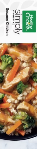 Healthy Choice Simply Steamers Sesame Chicken Frozen Meal Perspective: left