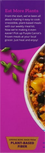 Purple Carrot Plant-Based Fiesta Pepper Bowl Frozen Meal Perspective: left