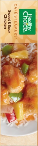 Healthy Choice Cafe Steamers Sweet & Sour Chicken Perspective: left