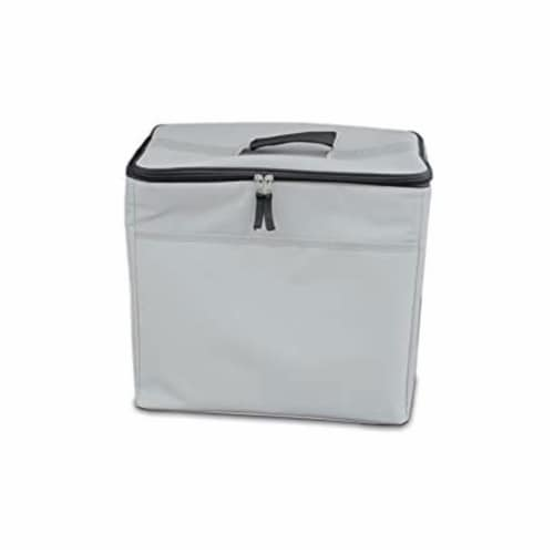 Homz Insulated 3 Section Trunk Organizer Storage Box with Cooler Bag, Gray/Black Perspective: left