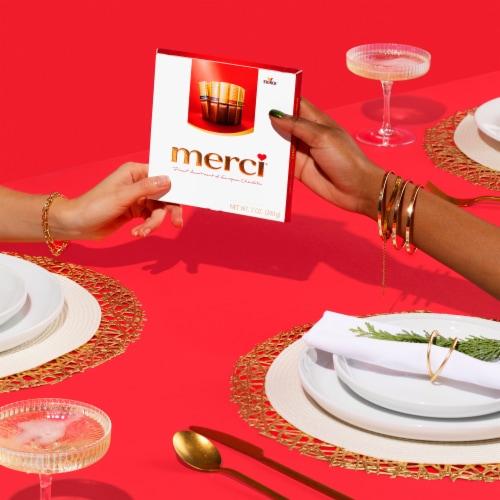 Merci Finest Assortment of European Chocolates Perspective: left