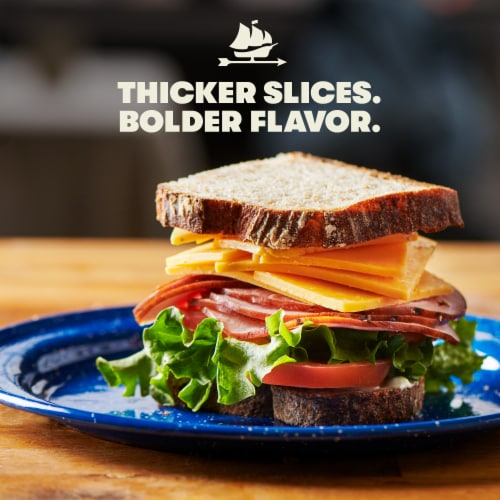 Tillamook Farmstyle Thick Cut Medium Cheddar Thick Cheese Slices 24 Count Perspective: left