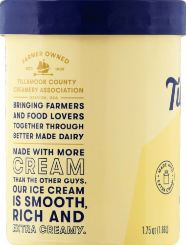 Tillamook French Vanilla Ice Cream Perspective: left