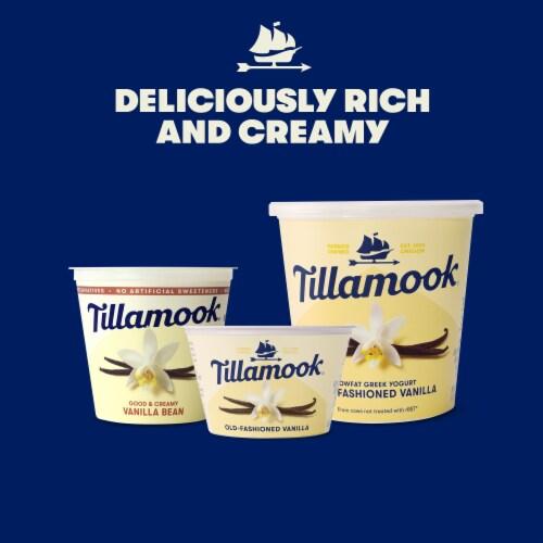 Tillamook Old-Fashioned Vanilla Lowfat Greek Yogurt Perspective: left