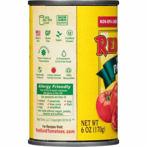 Red Gold Tomato Paste Perspective: left
