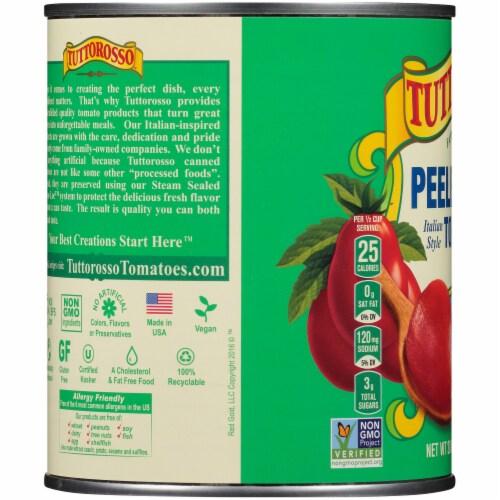 Tuttorosso Peeled Plum Italian Style Tomatoes Perspective: left