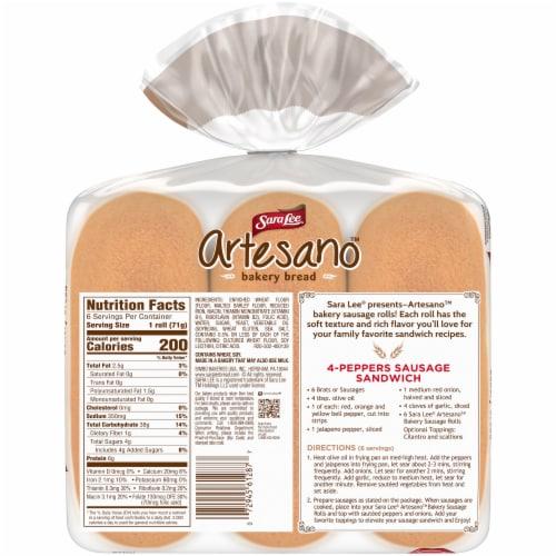 Sara Lee Artesano Bakery Sausage Rolls Perspective: left
