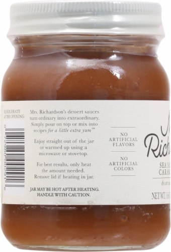 Mrs. Richardson's Sea Salt Caramel Dessert Sauce Perspective: left