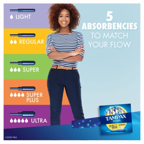 Tampax Pearl Regular Absorbency Scented Tampons Perspective: left