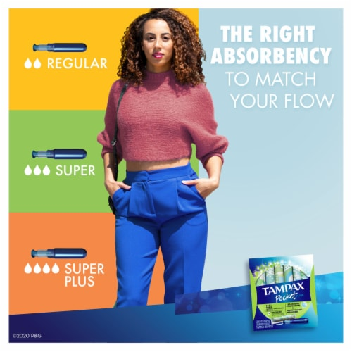 Tampax Pocket Pearl Super Compact Tampons Perspective: left