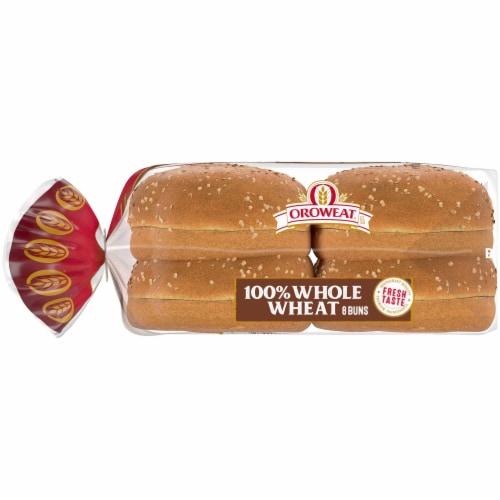 Oroweat Whole Wheat Sandwich Buns 8 Count Perspective: left