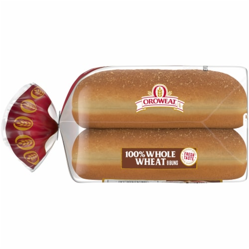 Oroweat Whole Grain Wheat Hot Dog Buns 6 Count Perspective: left