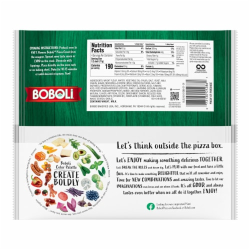 Boboli Mini Original Pizza Crusts Perspective: left