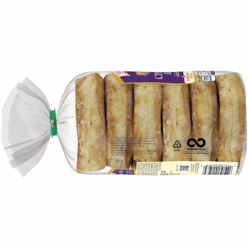 Oroweat Cinnamon Raisin Sliced English Muffins 6 Count Perspective: left