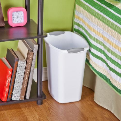 Sterilite Wastebasket - White Perspective: left