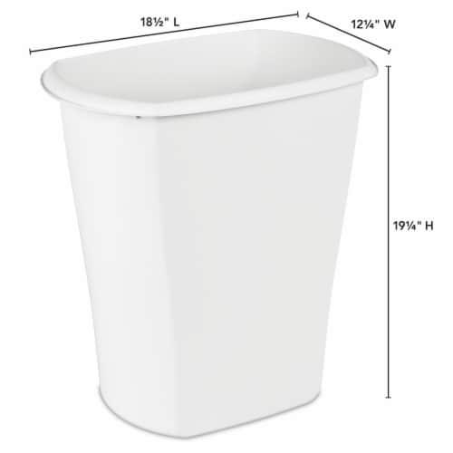 Sterilite Rectangular Wastebasket - White Perspective: left