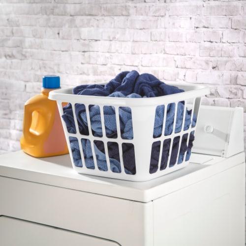 Sterilite Square Laundry Basket - White Perspective: left
