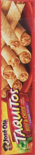 Jose Ole Flour Tortilla Beef & Cheese Taquitos Perspective: left