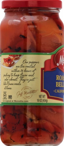 Mezzetta Roasted Red Bell Peppers Perspective: left