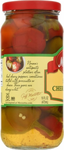 Mezzetta Sweet Cherry Peppers Perspective: left
