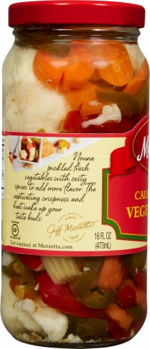 Mezzetta California Hot Mix Vegetables Perspective: left