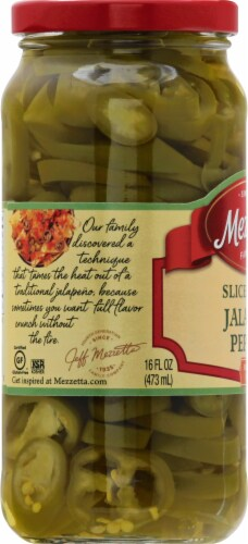 Mezzetta Deli-Sliced Tamed Jalapeno Peppers Perspective: left