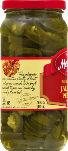 Mezzetta Deli-Sliced Hot Jalapeno Peppers Perspective: left
