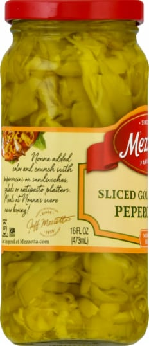 Mezzetta Sliced Golden Medium Heat Greek Peperoncini Perspective: left