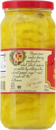 Mezzetta Deli-Sliced Hot Pepper Rings Perspective: left