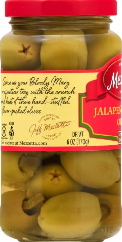 Mezzetta Jalapeno Stuffed Olives Perspective: left