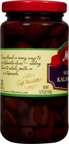 Mezzetta Sliced Greek Kalamata Olives Perspective: left