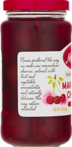 Mezzetta Maraschino Cherries with Stems Perspective: left
