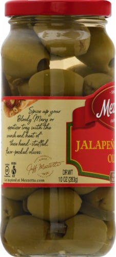 Mezzetta Jalapeno Stuffed Olives Perspective: left