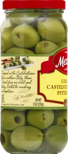 Mezzetta Colossal Castelvetrano Style Pitted Olives Perspective: left