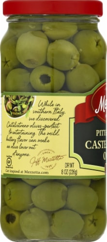 Mezzetta Pitted Castelvetrano Italian Olives Perspective: left
