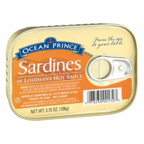 Ocean Prince Sardines in Louisiana Hot Sauce Perspective: left