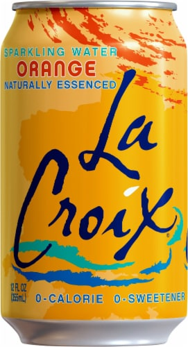 LaCroix Orange Sparkling Water Perspective: left