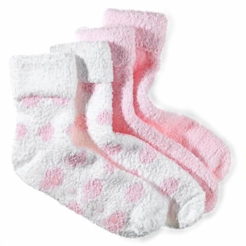 Earth Therapeutics Thera Soft Pink Polka Dot Moisturizing Socks Perspective: left