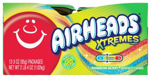 Airheads Rainbow Berry Xtremes Candy Perspective: left