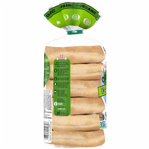 Oroweat Organic 10 Grains & Seeds English Muffins 6 Count Perspective: left