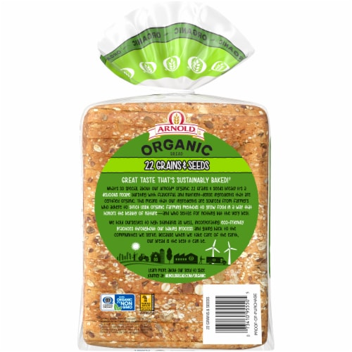 Arnold® Organic 22 Grains & Seeds Bread Perspective: left