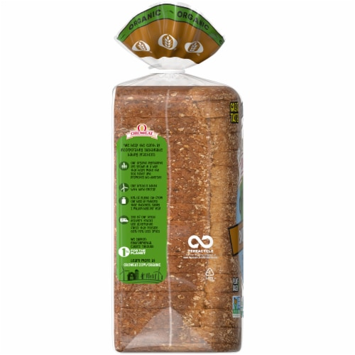 Oroweat Organic Smooth Wheat Bread Perspective: left