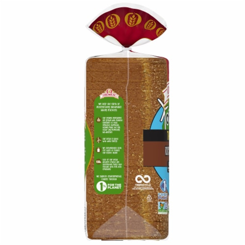 Oroweat Organic Thin Sliced Whole Wheat Bread Perspective: left