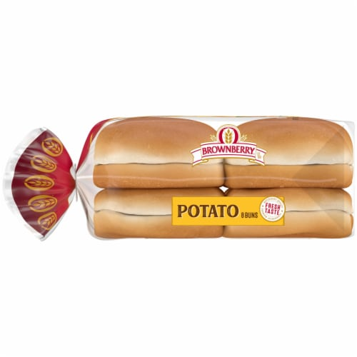 Brownberry Country Potato Sandwich Buns 8 Count Perspective: left