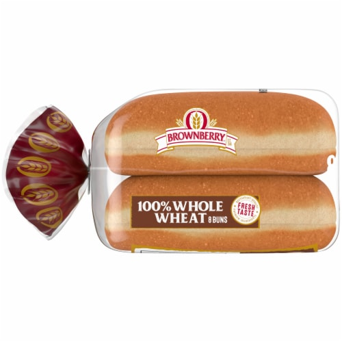 Brownberry 100% Whole Wheat Hot Dog Buns Perspective: left