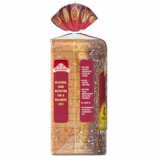 Brownberry Whole Grains Health Nut Bread Perspective: left