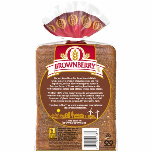 Brownberry Whole Grains 100% Whole Wheat Bread Perspective: left