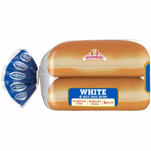 Brownberry® Country White Hot Dog Buns Perspective: left